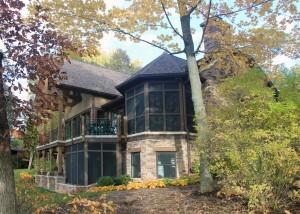 Rustic lodge design home