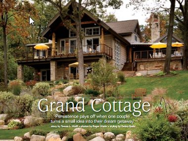 Log Home Illustrated Magazine May 2009 Thelen Total