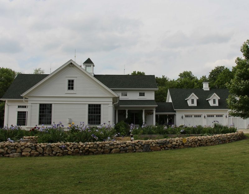 A newly constructed Thelen Total Construction home - built to look like a 19th century farmhouse.