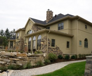 Tuscan villa home constructed by Thelen Total Construction featured in 2015 Parade of Homes.